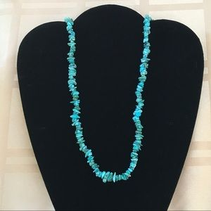 Beautiful Long Turquoise Nugget Necklace
